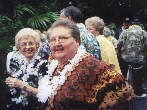Photo - Susie in Luau line